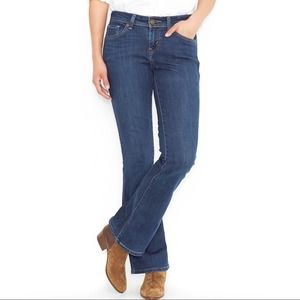 Levi's slimming boot med. wash jeans plus size 32
